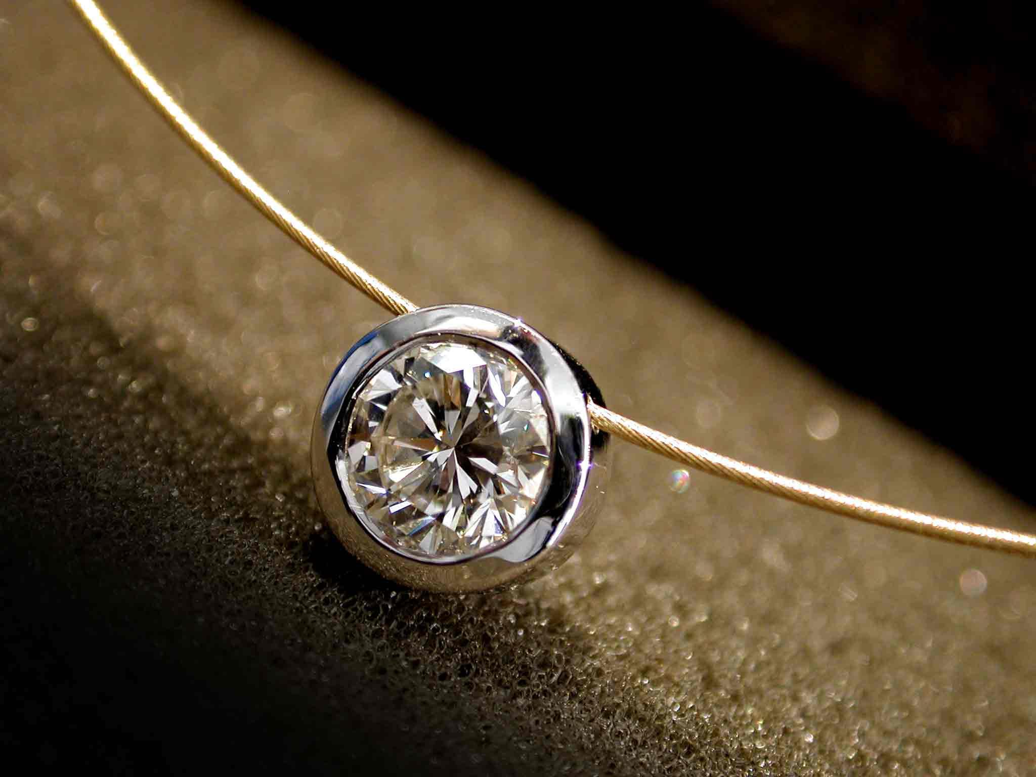 Diamant-Slider, 1,2 ct, Weiß-/Gelbgold 750