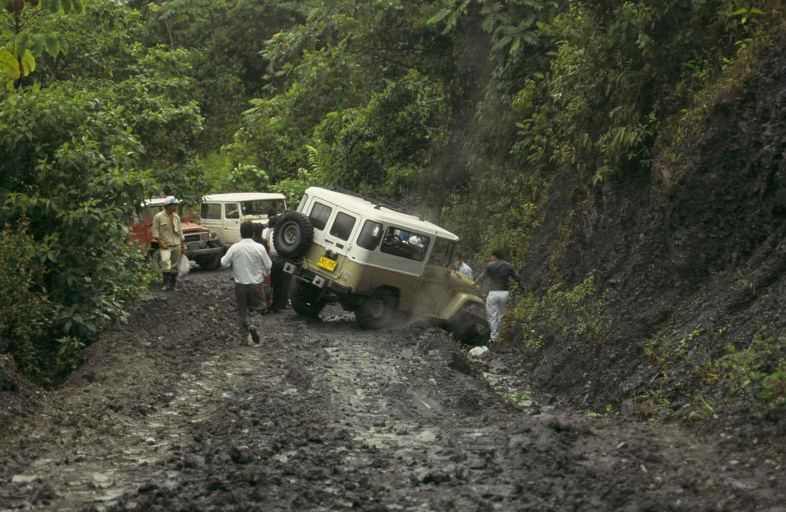 Zufahrt zur Mine in Kolumbien