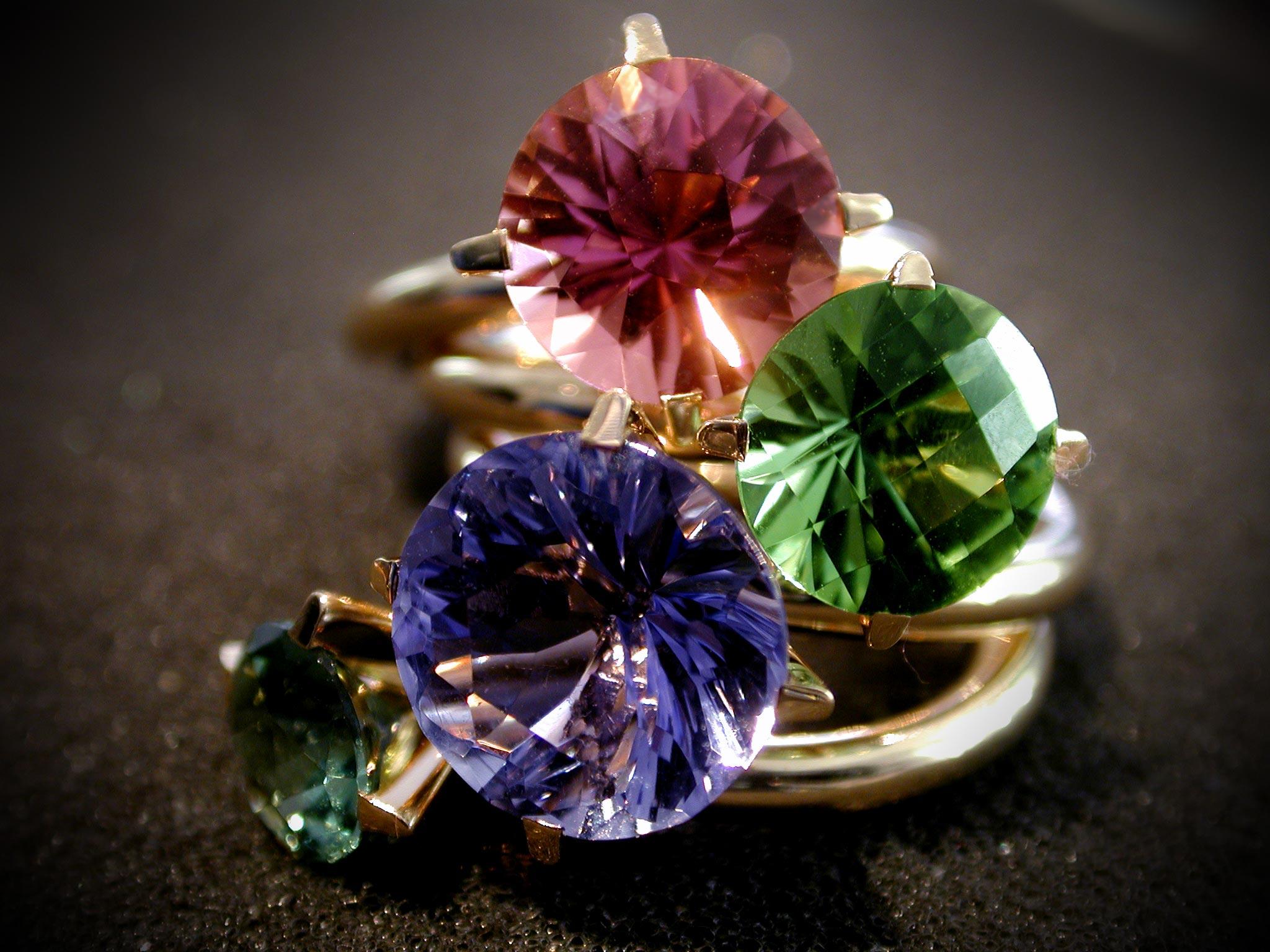 Multicolorring - Turmaline und Iolith
